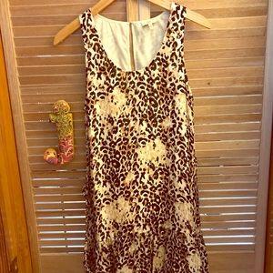 Joie leopard print dress w/ ruffle hem. EUC